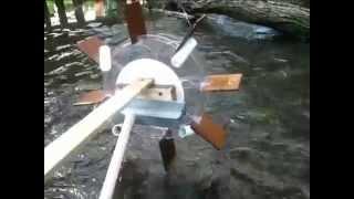 Водяное колесо, водокачка (прототип)