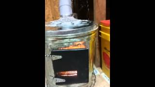 Trash can diy wood stove