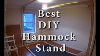 Building our own hammock stand to fit our small bedroom. Ebay - LOCAL DELIVERY Pine Wood Family Hammock Stand, Four