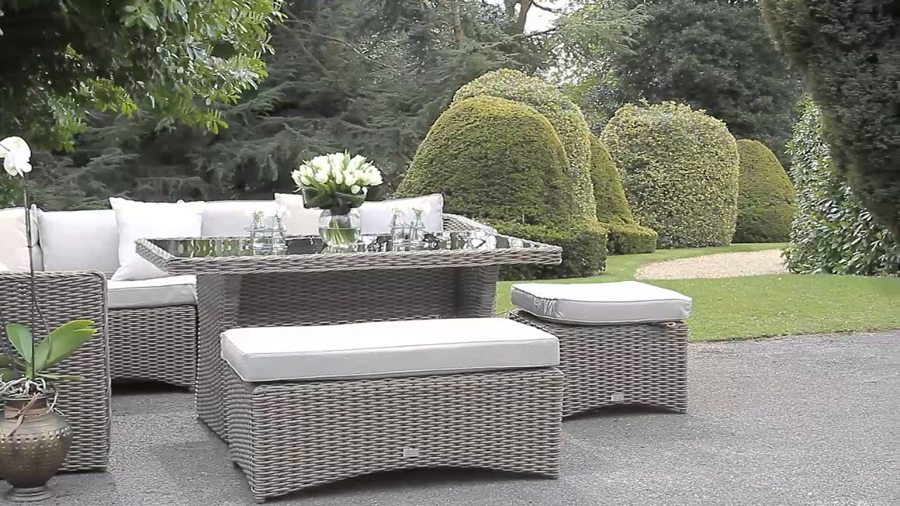 Rattan Half Moon Sofa Set Beds Argos Co Uk Decoalfresco Luxury High Back Corner Dining Youtube