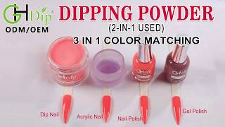 2in1 use Dip Powder match gel and lacquer, Color Match 3 in 1 set
