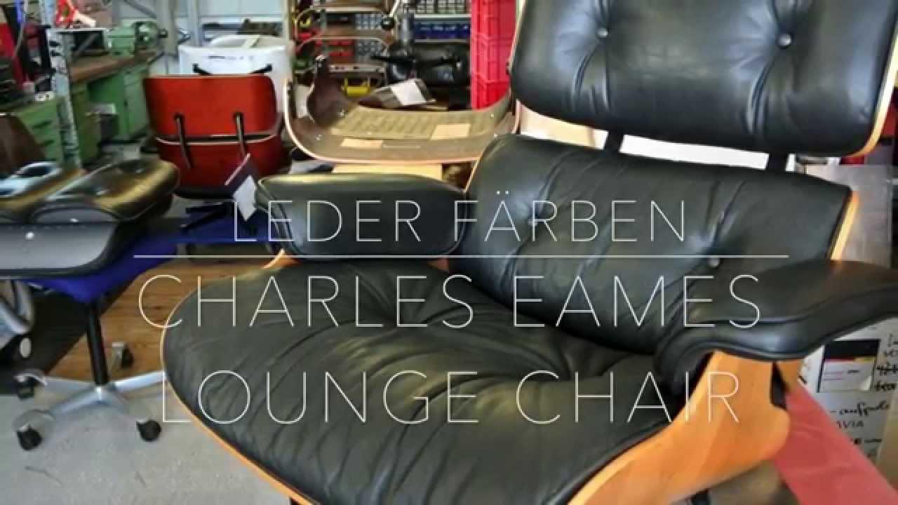 Charles Eames Lounge Chair   Leder Nachfärben