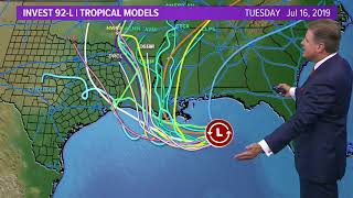Could Tropical Storm Barry still come out of the Gulf of Mexico?