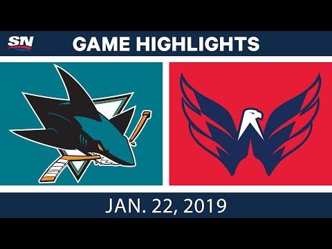NHL Highlights   Sharks vs. Capitals - Jan. 22, 2019