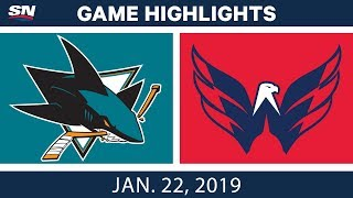 NHL Highlights | Sharks vs. Capitals - Jan. 22, 2019