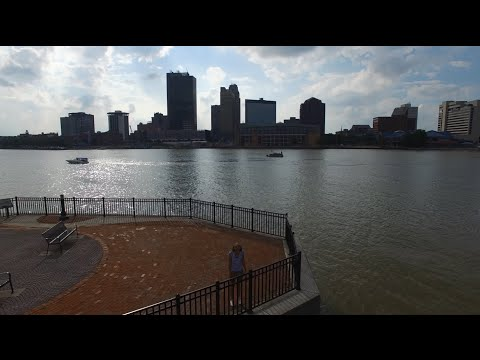DOWNTOWN TOLEDO from DRONE