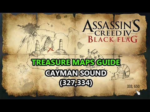 Assassin's Creed IV: Black Flag: Treasure maps: Ostrov mládeže: 327,334 --) Cayman Sound