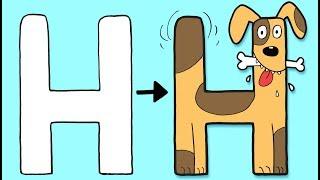 H for Hund | Øisteins Blyant ABC