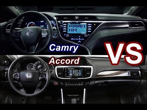 2018 Toyota Camry Vs 2017 Honda Accord Interior Drive Exterior