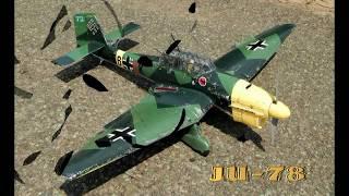 видео: Junkers-Ju87 . СТРОИМ, ЛЕТАЕМ И РАЗБИВАЕМ !!!  Самолет из пенопласта. 3542 NTM