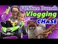 Family Fun Vlogging w/ Chase! A Ninja Turtle Race Car Adventure w/ Alien Scorpion Bug?!!
