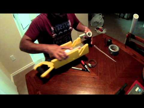 Diy pvc bank fishing rod holders youtube for Homemade fishing rod holders for bank fishing