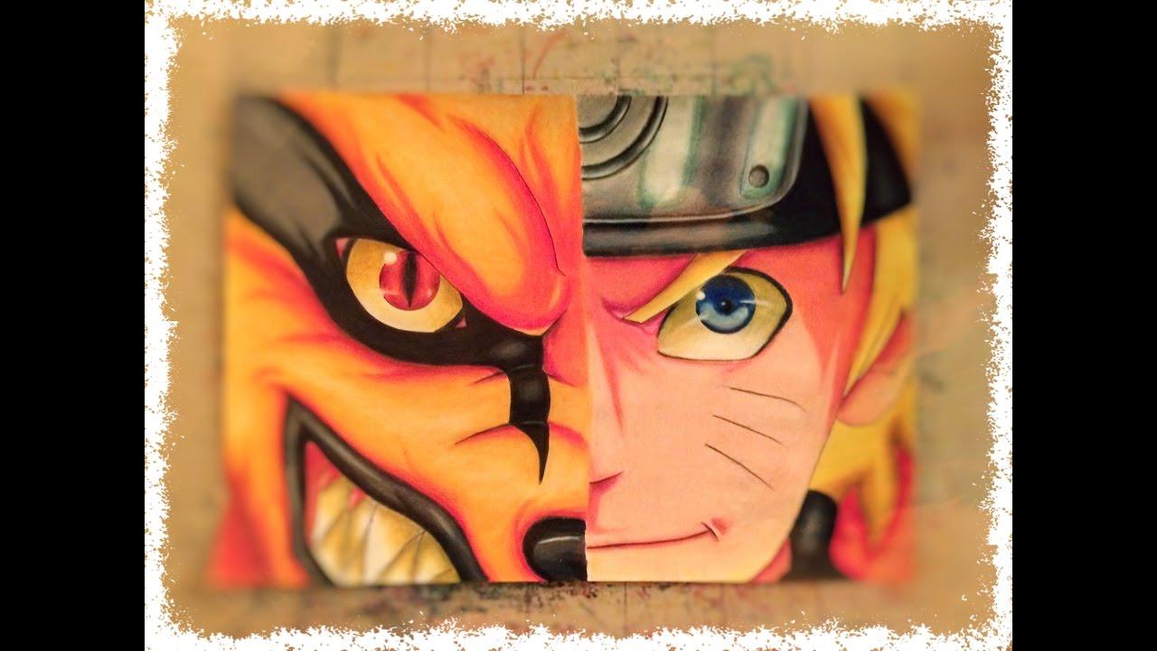 Naruto How To Draw Naruto And Kurama Come Disegnare Naruto E