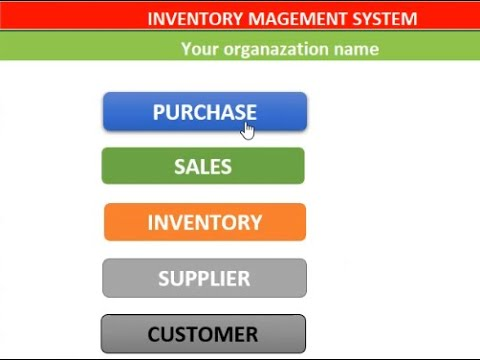 Inventory Management System Microsoft Excel Youtube