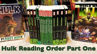 A comprehensive look at the reading order of Hulk in Collected Editions Pt. 1