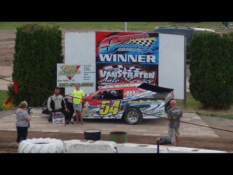 Benji LaCrosse 100th Career Win @ Seymour Speedway 7-12-2015 IMCA Modified A Main