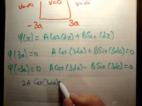 Quantum Well 6: Infinite Potential Well -3a to 3a