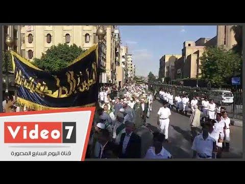 المئات يشاركون في موكب الطرق الصوفية احتفالا بشهر رمضان
