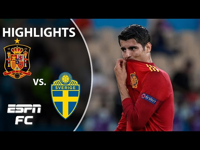 Alvaro Morata MISSES A SITTER as Spain is frustrated in draw vs. Sweden | Highlights | ESPN FC