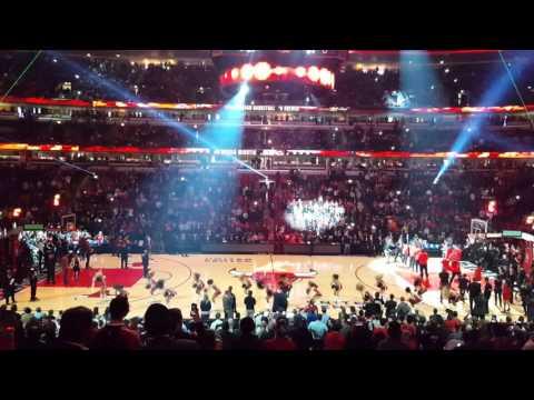 Bulls New 3D Floor Intro 2015-16 Season 10/27/15