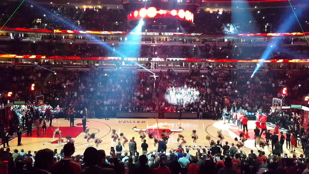 Bulls New 3d Floor Intro 2015 16 Season 10 27 15 Youtube