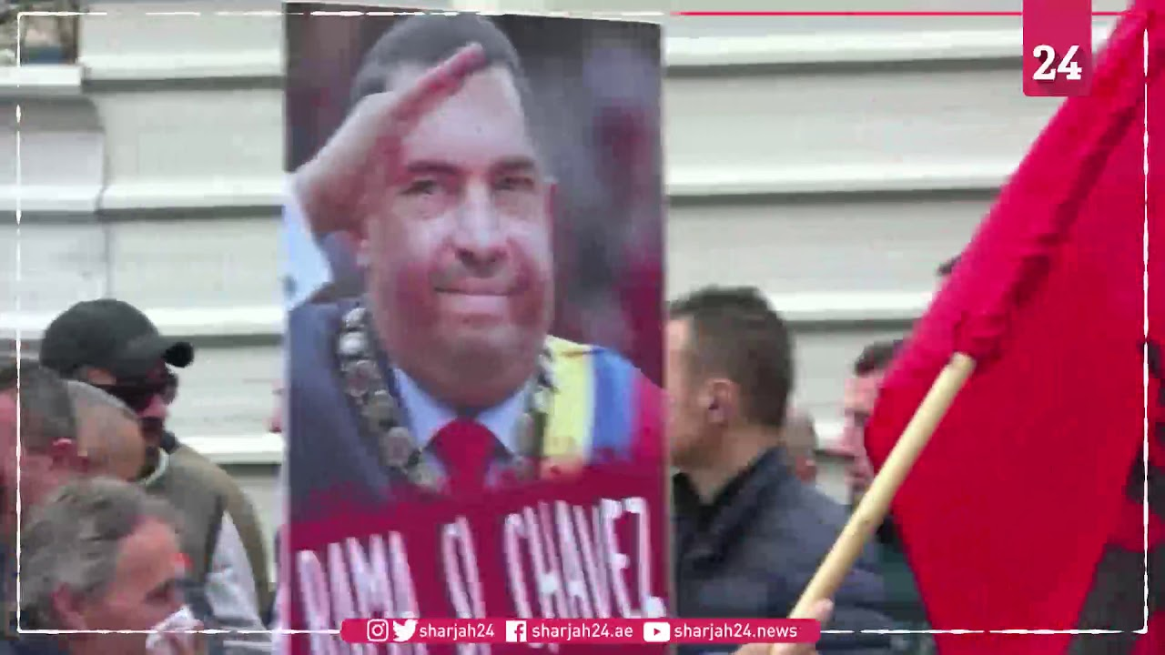 Albanian opposition protests against government in Tirana