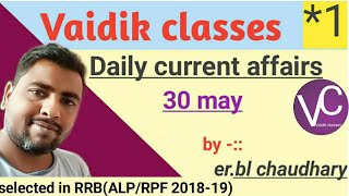currentaffairs||30may currentaffairs||DailyCurrent affairs by Banshi lal