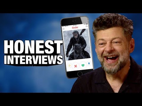 Caesar's Tinder Profile w/ Apes' Andy Serkis! (HONEST INTERVIEW)