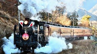 【C58 363】秩父鉄道SL初詣号【日章旗】20190103