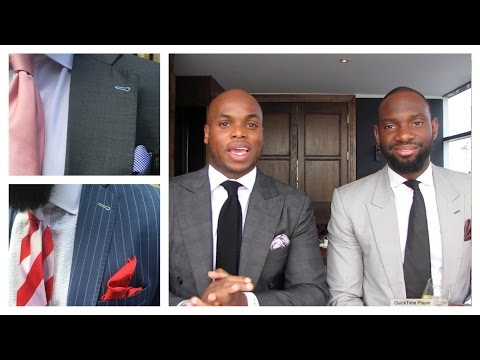 Mens Style Matching Tie And Pocket Square
