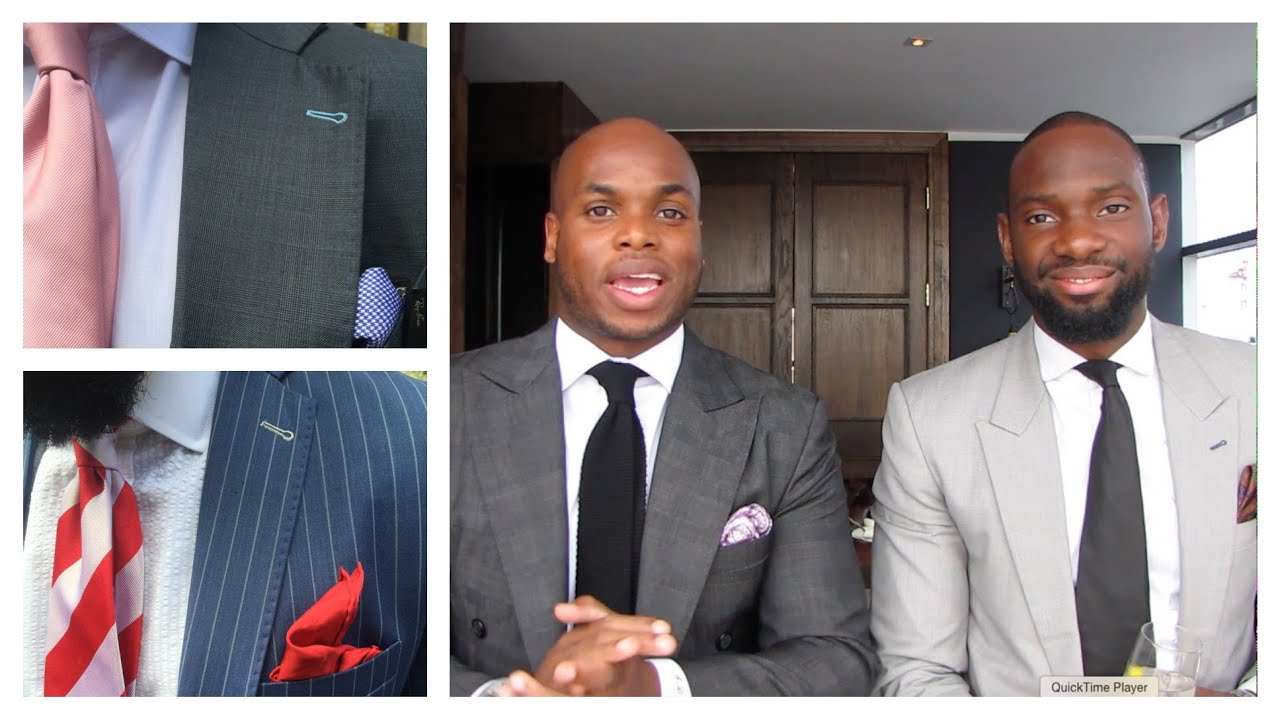 Men's Style: Matching Tie and Pocket Square? - YouTube
