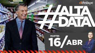 Macri vs Precios: Inflación descontrolada   #AltaData, todo lo que pasa en un toque