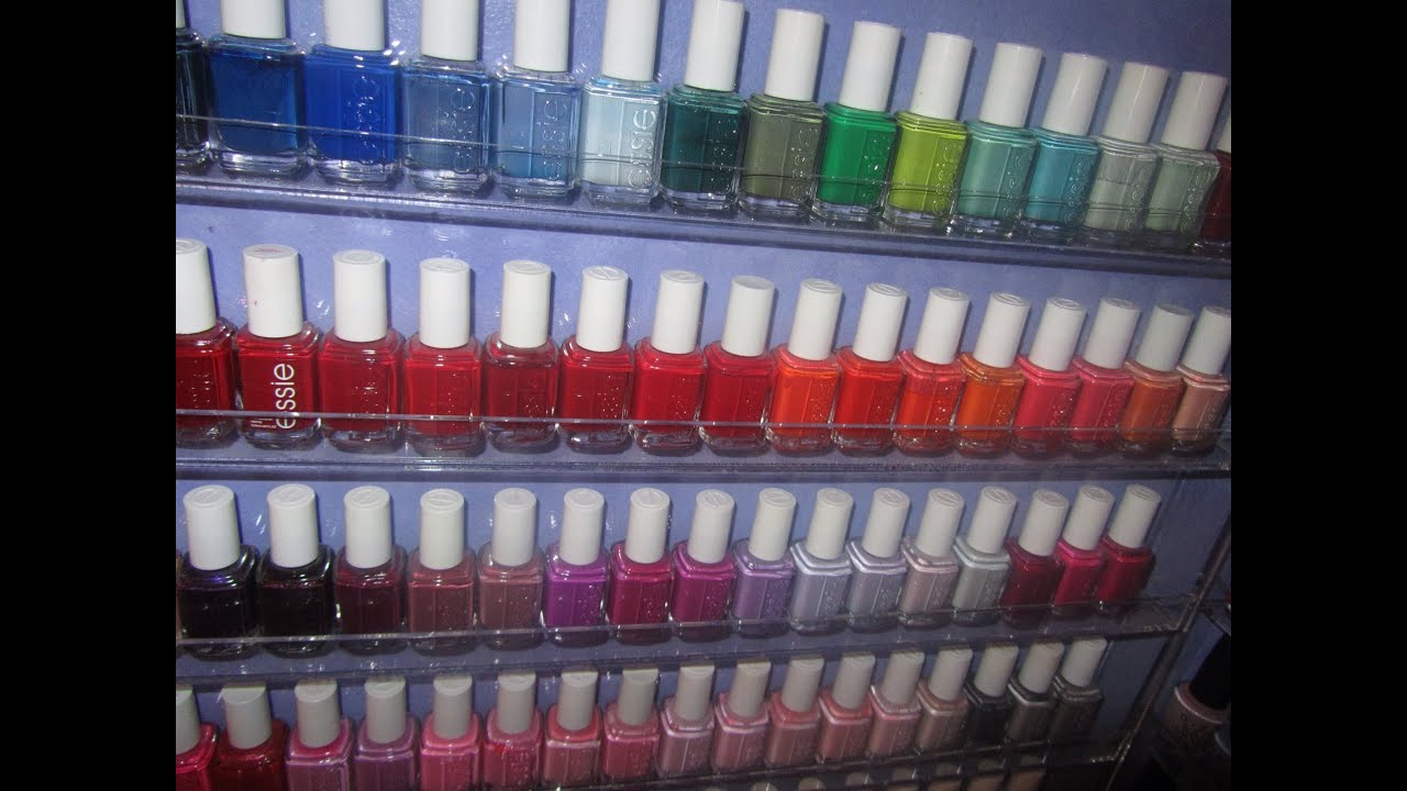 My Nail Polish Collection and Storage Part 1: Essie Collection - YouTube