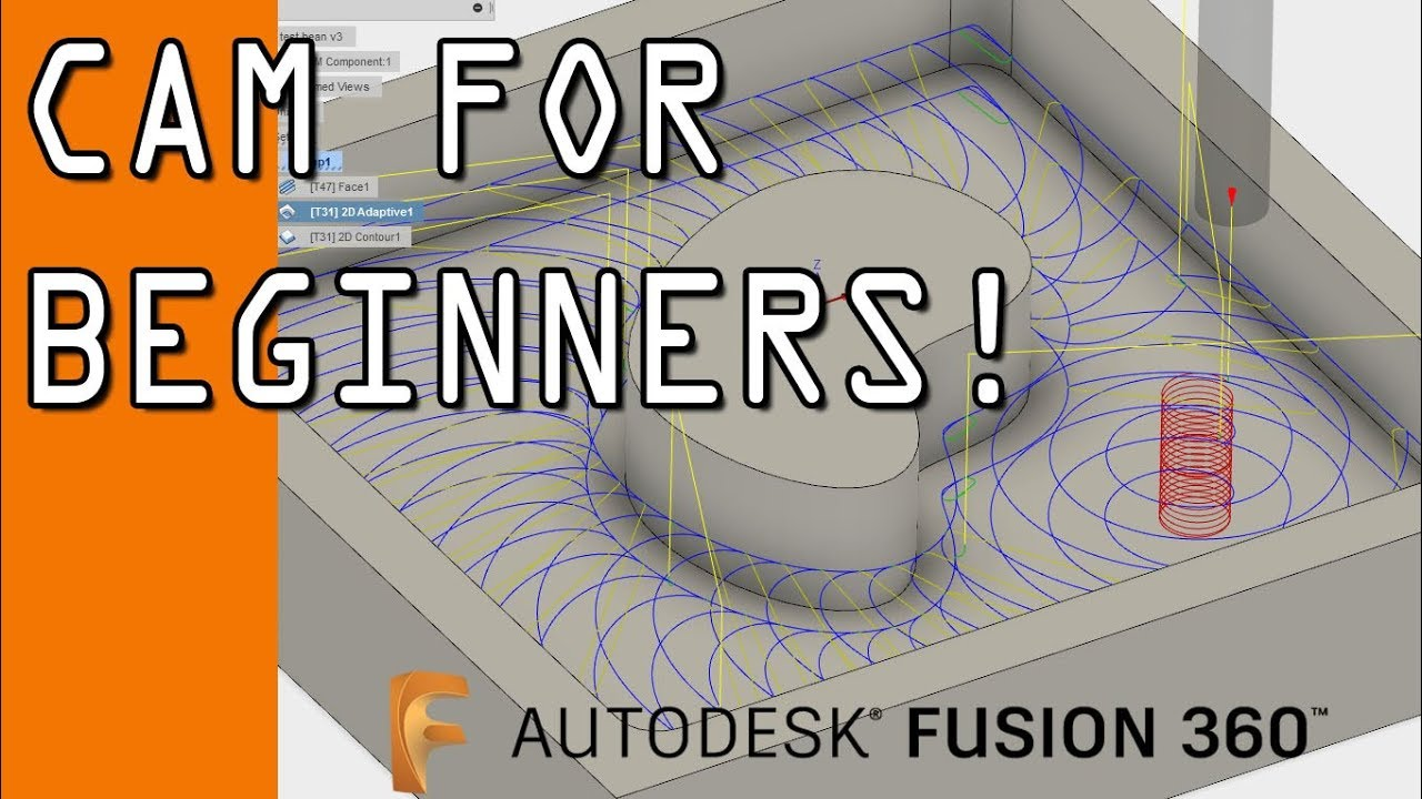 Fusion 360 CAM Tutorial for Beginners! FF102