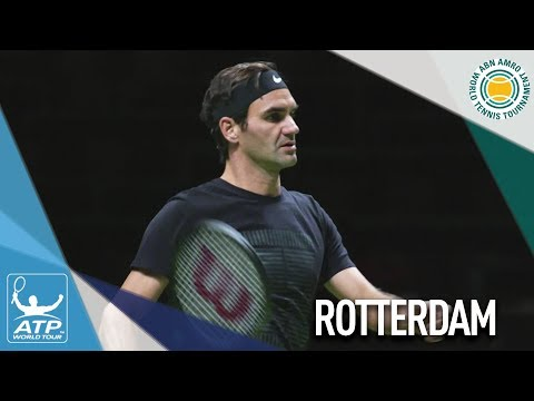 Federer Arrives In Rotterdam For No. 1 Charge