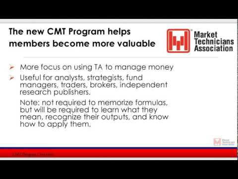 Chartered Market Technicians (CMT) Program Overview  - 2015