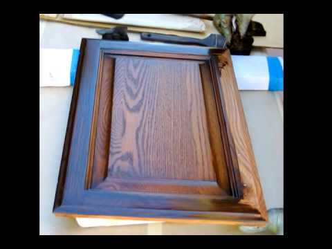 Refinishing Kitchen Cabinets YouTube - Kitchen cabinet refinish