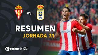 Resumen de Real Sporting vs Real Oviedo (1-0)