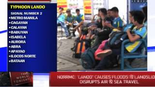 'Lando' causes floods and landslides, disrupts sea and air travel