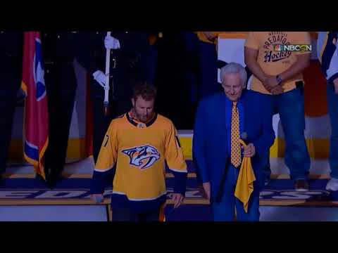 Game 1 National Anthems and Player Introductions (Jets vs. Preds 2018 NHL Playoffs)