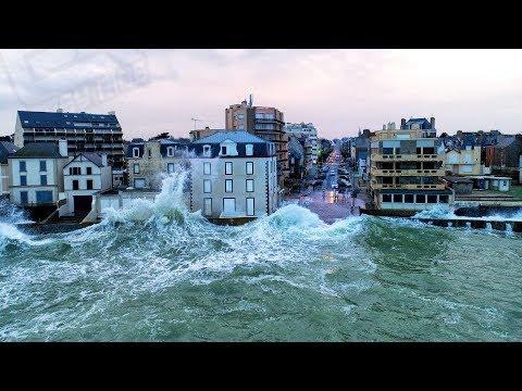 Tempête Eleanor filmée en drone - Easy Ride Opérateur Drone