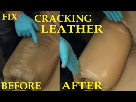 FIX CRACKING LEATHER - LEATHER REPAIR VIDEO *****