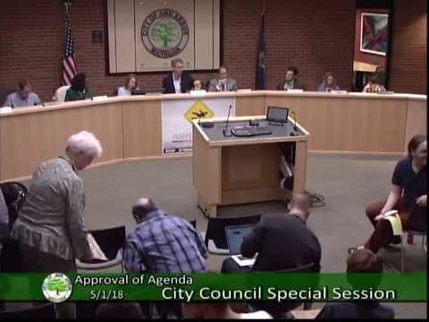 City Council Special Session 5/1/18
