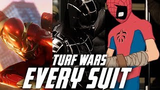 SPIDER-MAN EVERY SUIT IN TURF WARS GAMEPLAY - Spider-Clan Suit / Iron Spider Armor & Spider Armor M1