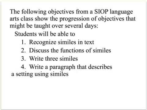 Siop Lesson Plan  Youtube