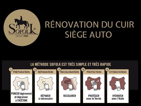 RENOVATION CUIR : TUTORIEL RENOVATION SIEGE AUTO CUIR