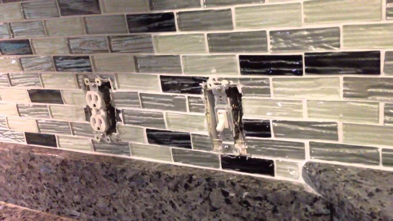 Kitchen Backsplash Outlet how to do receptacles in a tile backsplash - youtube