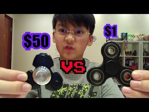 $1 FIDGET SPINNER VS $50 FIDGET SPINNER!