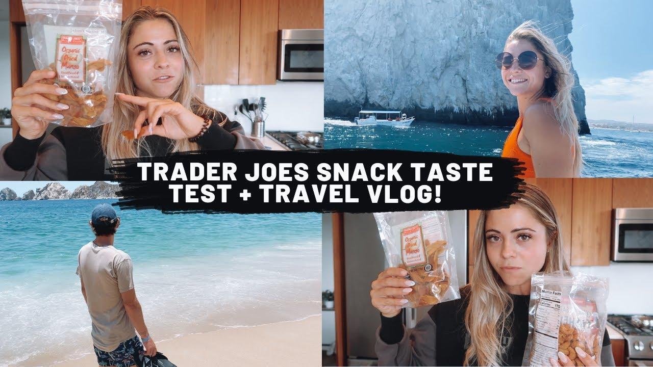 Trader Joes SNACK TASTE TEST + Travel VLOG!