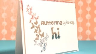 Ombre Glitter Embossing with Pink and Main - Cardmaking Tutorial